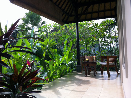 One of the older verandas at Uma Agung.