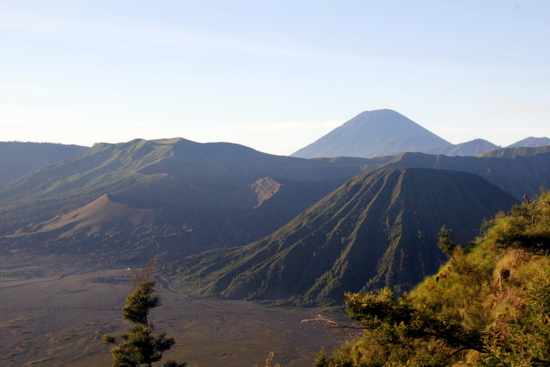 The Tengger Caldera with Bromo on the left