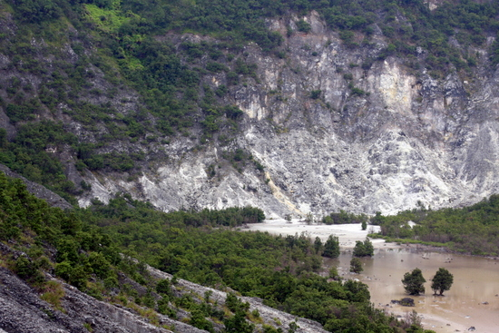 Small lake at the bottom of Kawah Upas