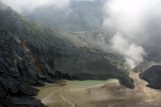 The main crater of Tangkuban Parahu, Kawah Ratu