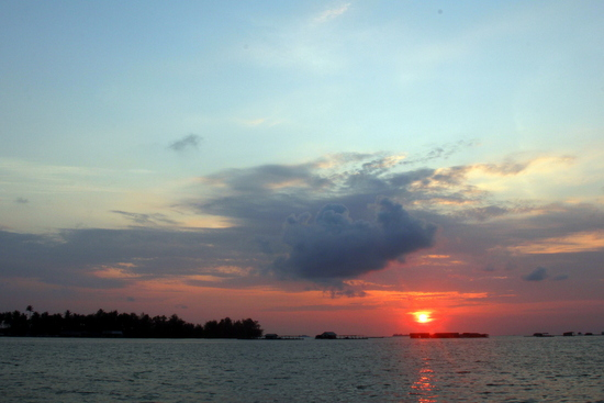The sunsets on Karimunjawa are stunning