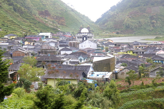 Villages cluster in the valleys around Dieng