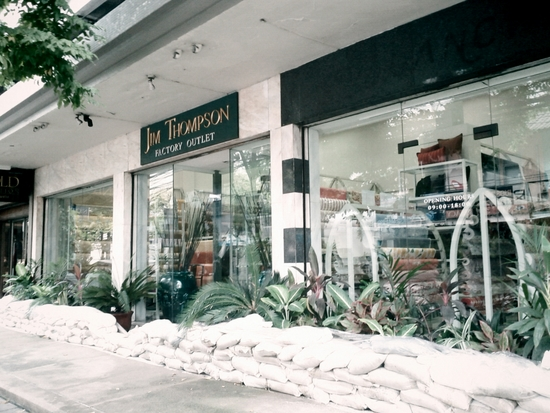 Protect the silk! Sandbags outside of a Jim Thompson Outlet in Sathorn.