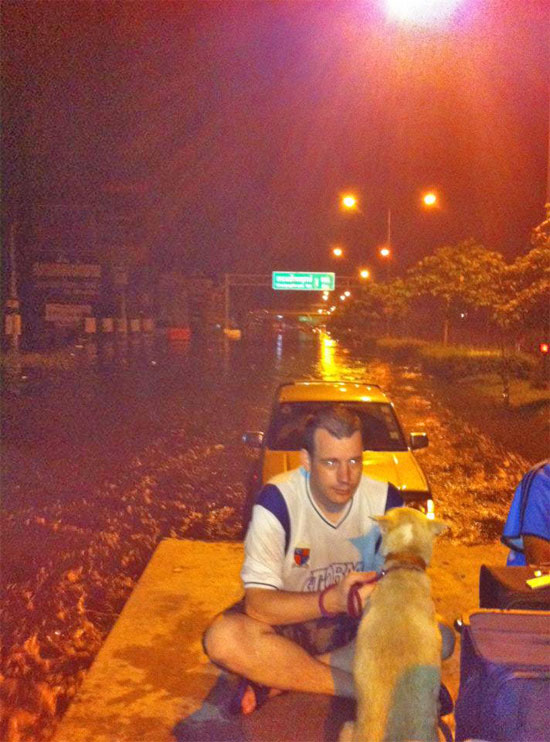 Travelfish's new flood correspondent.