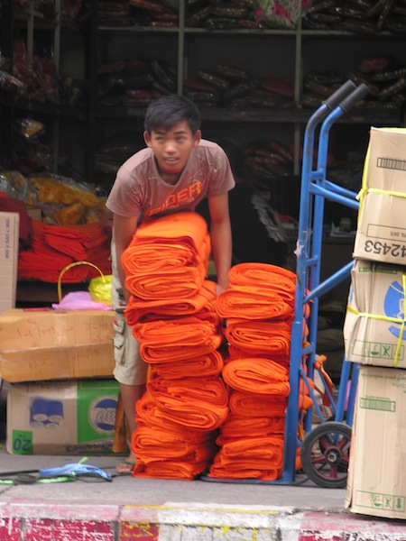 Thailand: the world's largest producer of orange fabric.