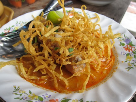 Half way through this khao soi I needed reminding that I was not in Chiang Mai.