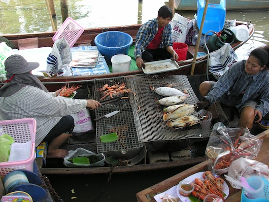 So you can catch a fish and grill it right there on the boat -- brilliant!