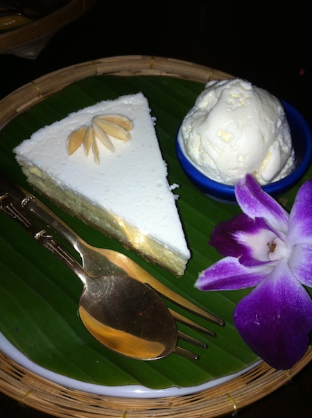 Durian cheesecake -- fit for royalty.