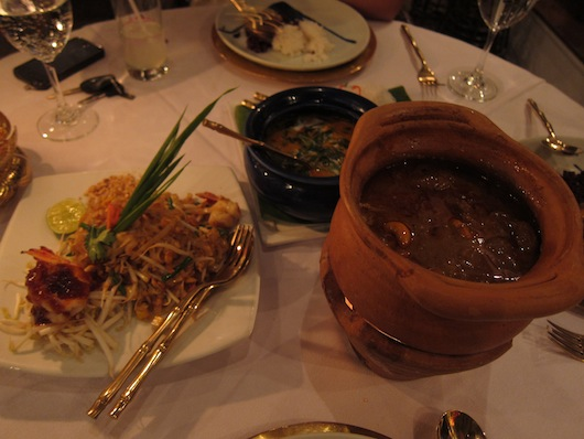 Pad Thai, massaman, crab curry -- royal style.