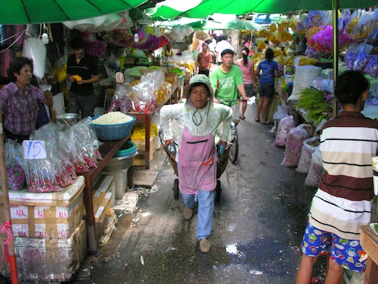 Flowers are big business in Bangkok.