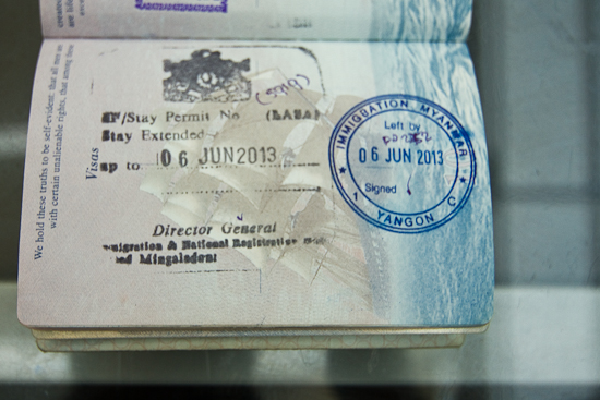 Immigration overstay stamp