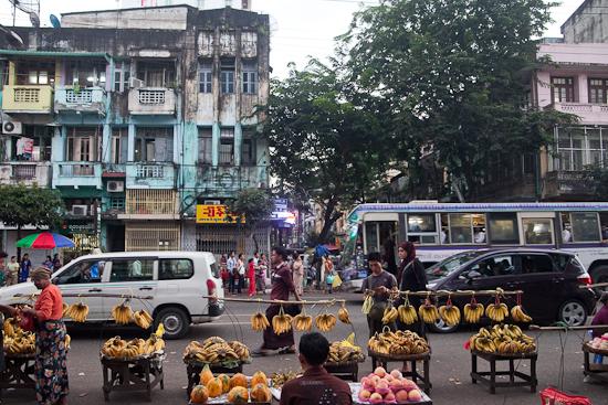 Kon Zay Dan Street is the big banana for budget accomodation