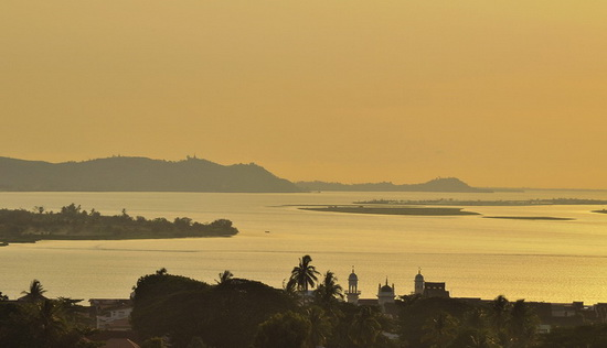 Moulmein sunset - worth going for the view alone!