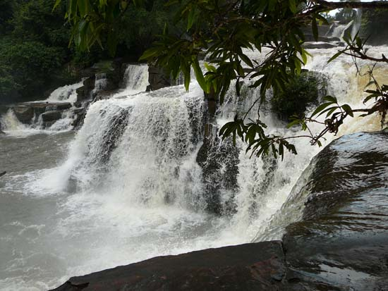 Kbal Chhay waterfall in the rainy season