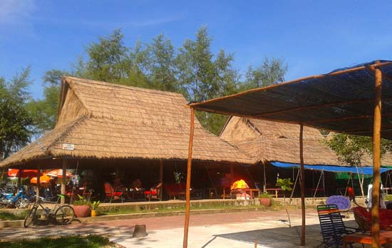 small beach bar at independence beach, sihanoukville cambodia