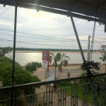 A balcony with a view in Kratie.