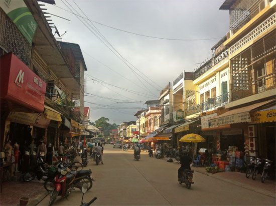 Downtown Kratie.