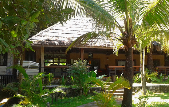 the restaurant at Pagoda Rocks, Sihanoukville Cambodia