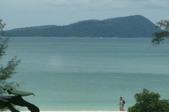 strolling on the beach at Koh Rong