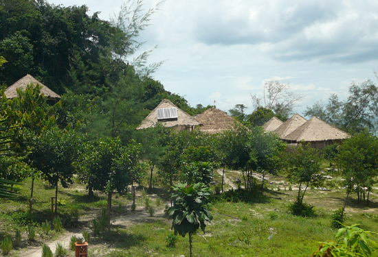 Bungalows on Koh Rong, near Sihanoukville Cambodia