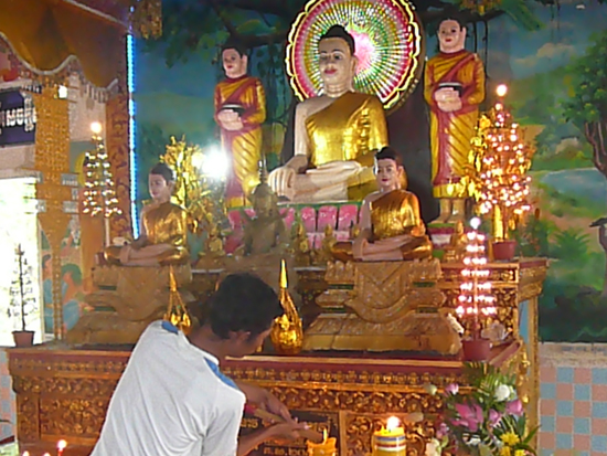 prayers at Wat Krom, Sihanoukville Cambodia