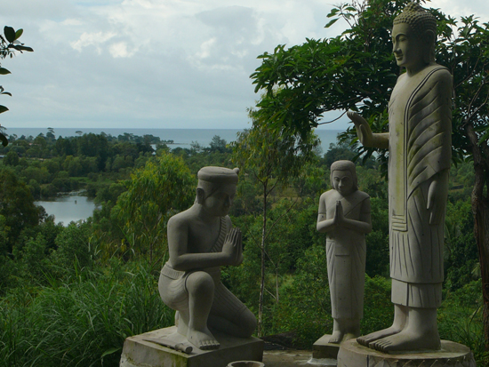 Buddhist statues at Wat Krom, Sihanoukville Cambodia