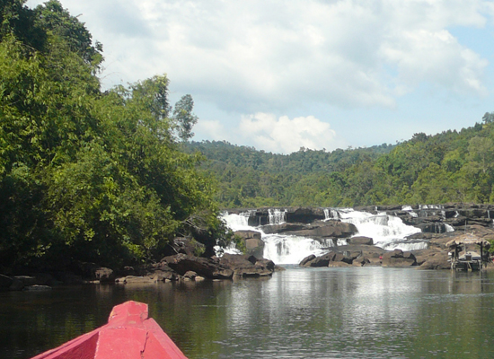 waterfall on tatai river, koh kong, cambodia