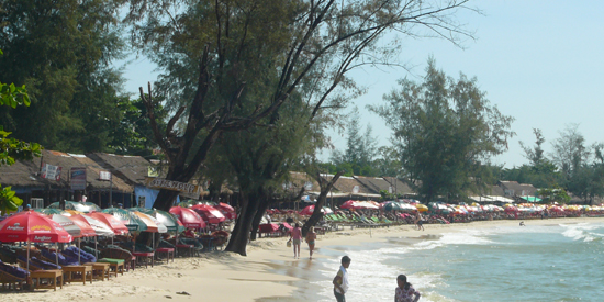 ochheuteal beach, sihanoukville cambodia