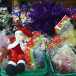 christmas display at samudera supermarket, sihanoukville cambodia