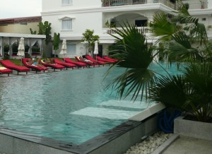 The pool is one of Sihanoukville's biggest