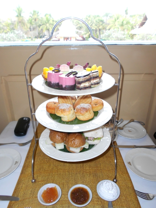 Tea for two at Raffles. This'll set you back $38++