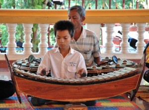 Traditional music is a regular attraction at the Phomchek Phomchom Temple