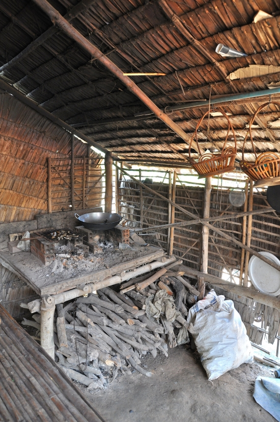 Real Khmer cooking would be done in a kitchen like this.