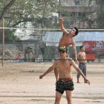 Street volleyball: an easy way to catch some real live sport.