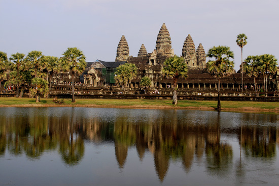 Iconic Angkor Wat - it adorns Cambodia's national flag.