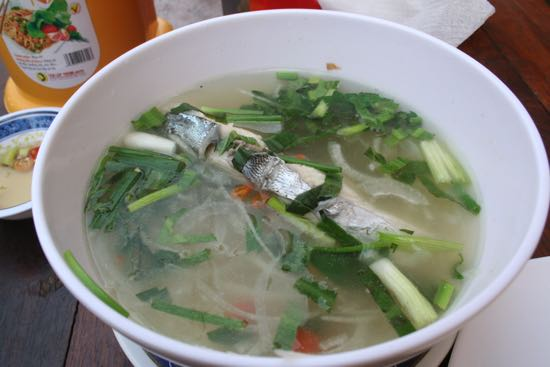 Sour fish soup for one.