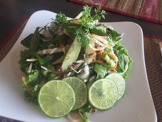 Thai beef salad at Moon.