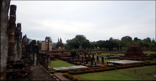 The distinctly dry looking Sukhothai old city on 16th October