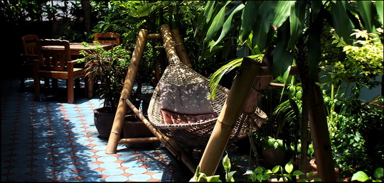 Traditional style bamboo hammock