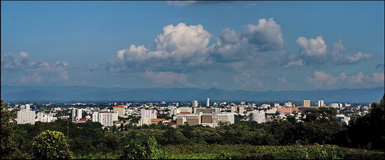 Looks green enough seen from Doi Suthep but the leafy suburbs are fast disappearing