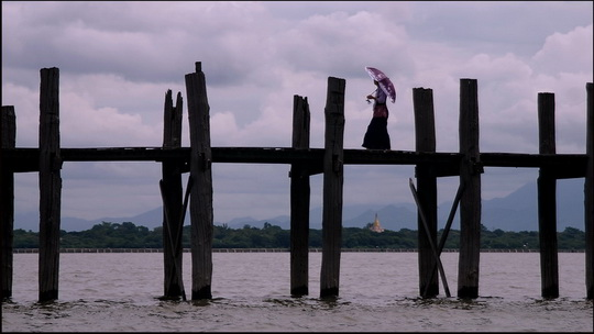 The much photographed U Bein Bridge