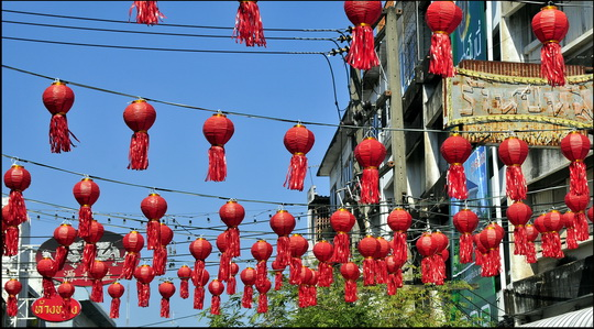 Must be Chinatown - they've got red lanterns
