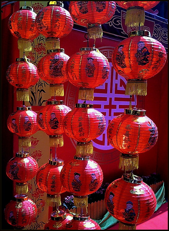 Chinese New Year lanterns at Worawot