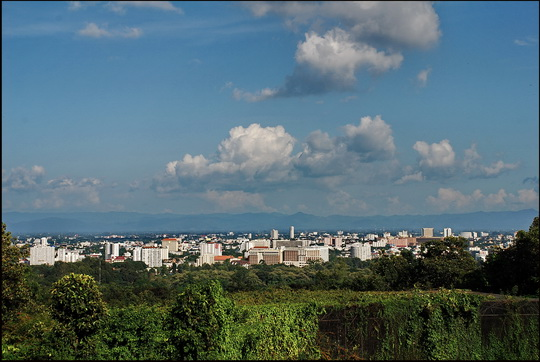 Overall view of Chiang Mai City from Doi Suthep