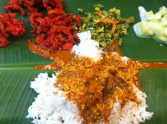 Banana leaf curry - don't leave KL without it.