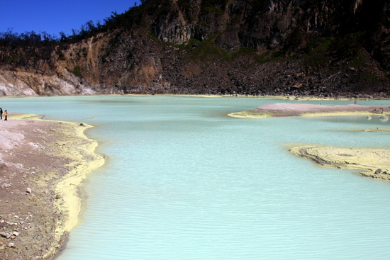 A strange coloured lake 35km from Bandung -- who would have known?