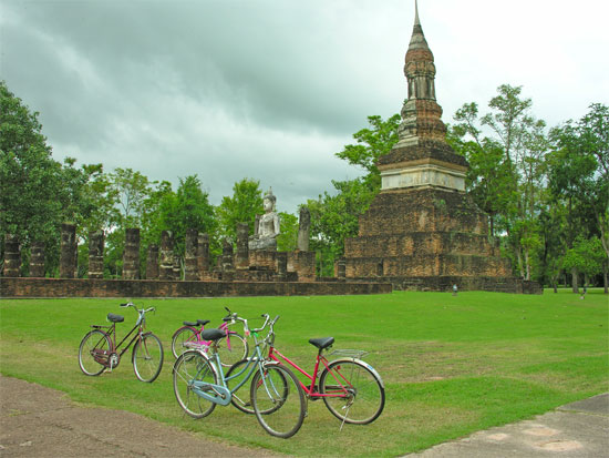 In Sukhothai, free bicycles are always a nice add-on.