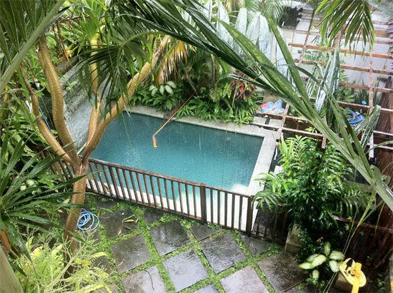 Expat woes: Pool flooding again.