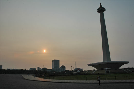A rare open space in Jakarta.