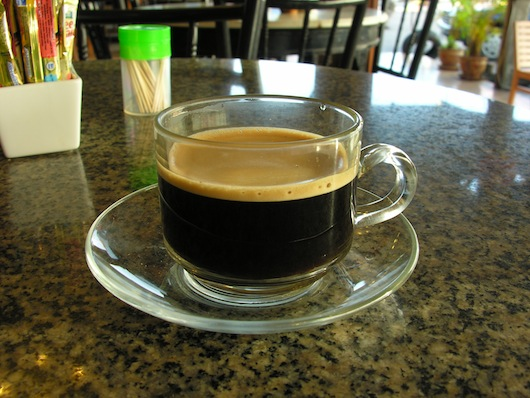 Kopii: the pride of Trang, as served at Sin-o-cha Cafe.
